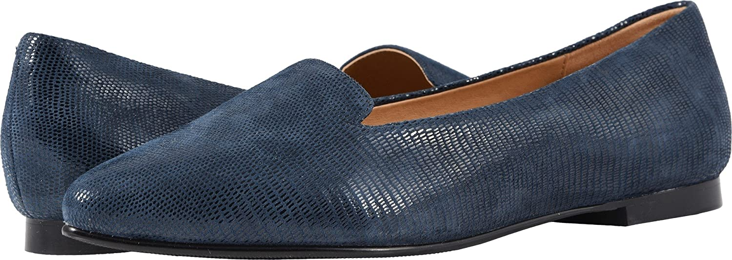 Trotters Women's Harlowe Ballet Flat B07933QSDG 6 AA US|Navy Soft Lizard Embossed Patent Suede