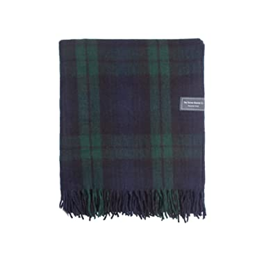 The Tartan Blanket Co. Recycled Wool Blanket Black Watch Tartan (59  x 75 )