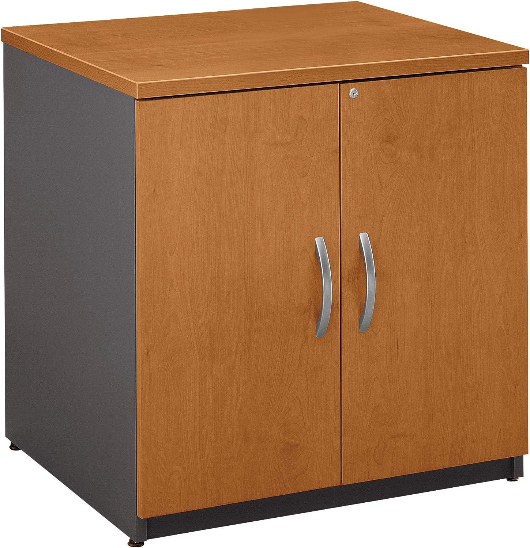 BUSH BUSINESS FURNITURE Series C: 30-inch Door Bookcase, Natural Cherry/Graphite Gray