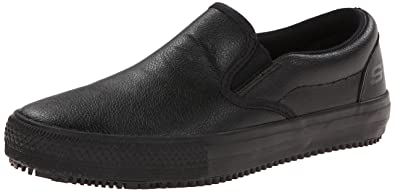 search for genuine moderate price best Skechers for Work Women's Maisto Slip Resistant Slip-On