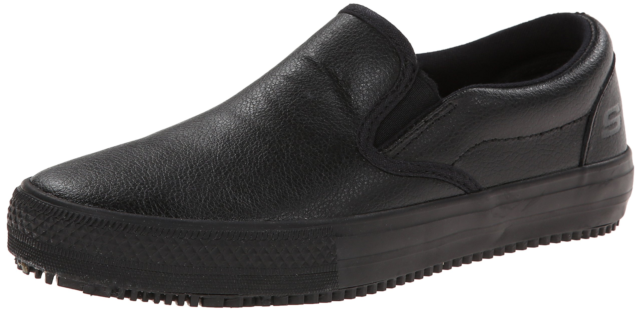 Skechers for Work Women's Maisto Slip-On,Black,5 M US