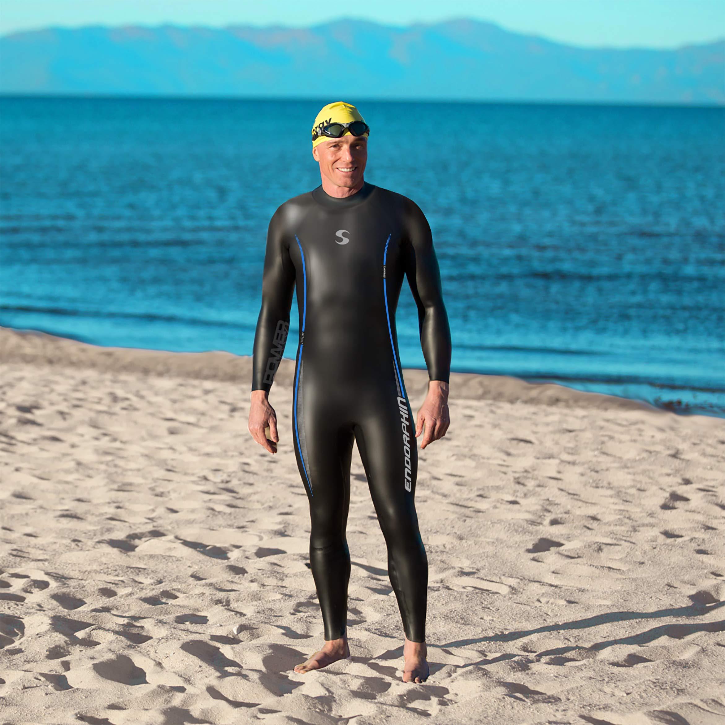 Synergy Endorphin Men's Full Sleeve Triathlon Wetsuit (M3) by Synergy (Image #5)