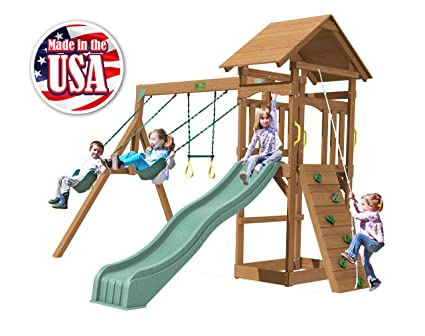 Amazon Com Creative Playthings Playtime Series Raleigh Swing Set
