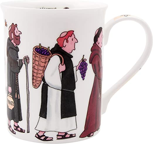 Alison Gardiner Famous Illustrator - Monks Procession Fine Bone China  Coffee Cup and Tea Mug - Premium Quality and Detail
