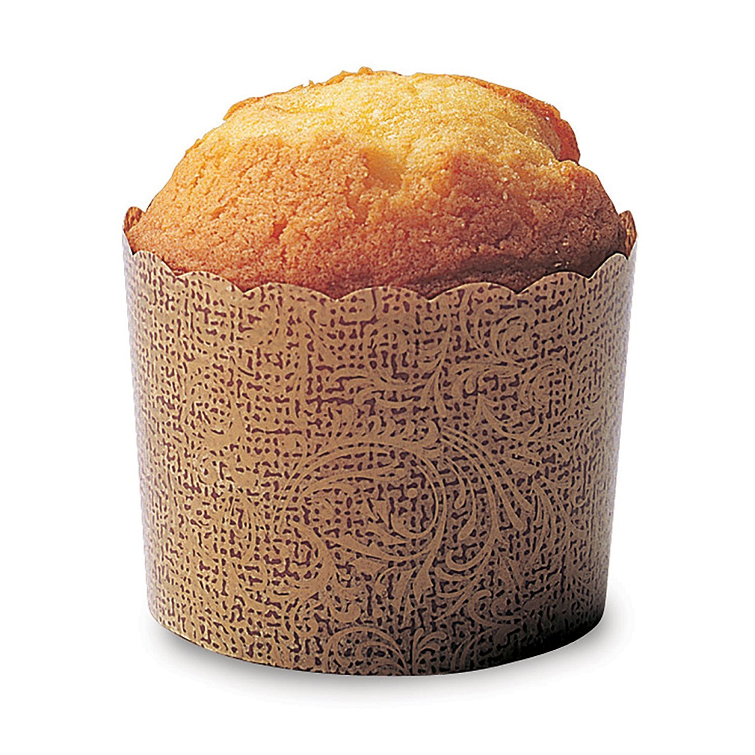 Welcome Home Brands PM303 Antique Paper Baking Cup 5.1-Ounce Volume, 2.3 Inch Diameter x 2 Inch High - Pack of 100