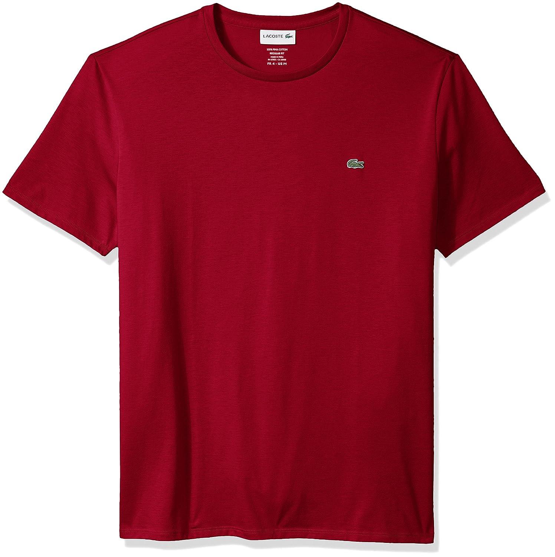 Lacoste スタンダード半袖ジャージー ピマ レギュラーフィット クルーネック Tシャツ、Th6709 – 51 B01M8L3UWO 5|ボルドー ボルドー 5