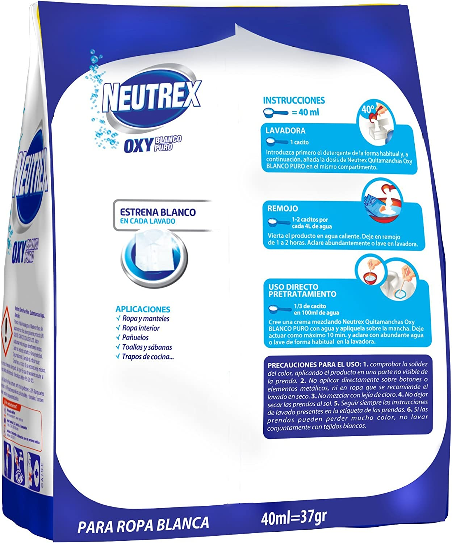 Neutrex Oxy Blanco Puro Polvo 900g: Amazon.es: Alimentación y bebidas