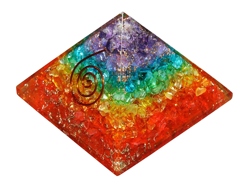 Orgone Energy 7 Chakra Pyramid Healing Emf