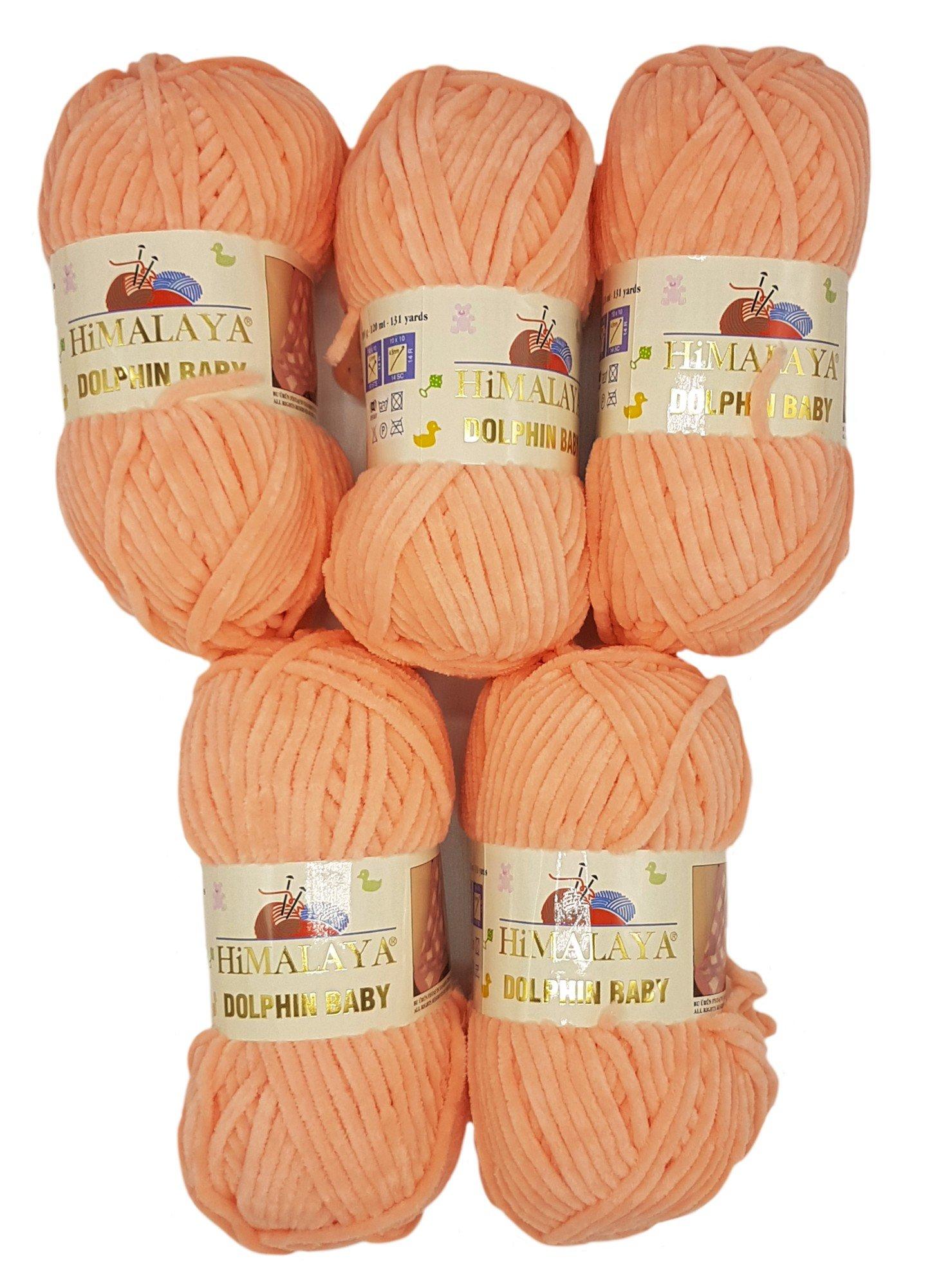 NEW Baby Super Soft Dk Knitting Crochet Yarn 500 Grams 5 Balls Apricot