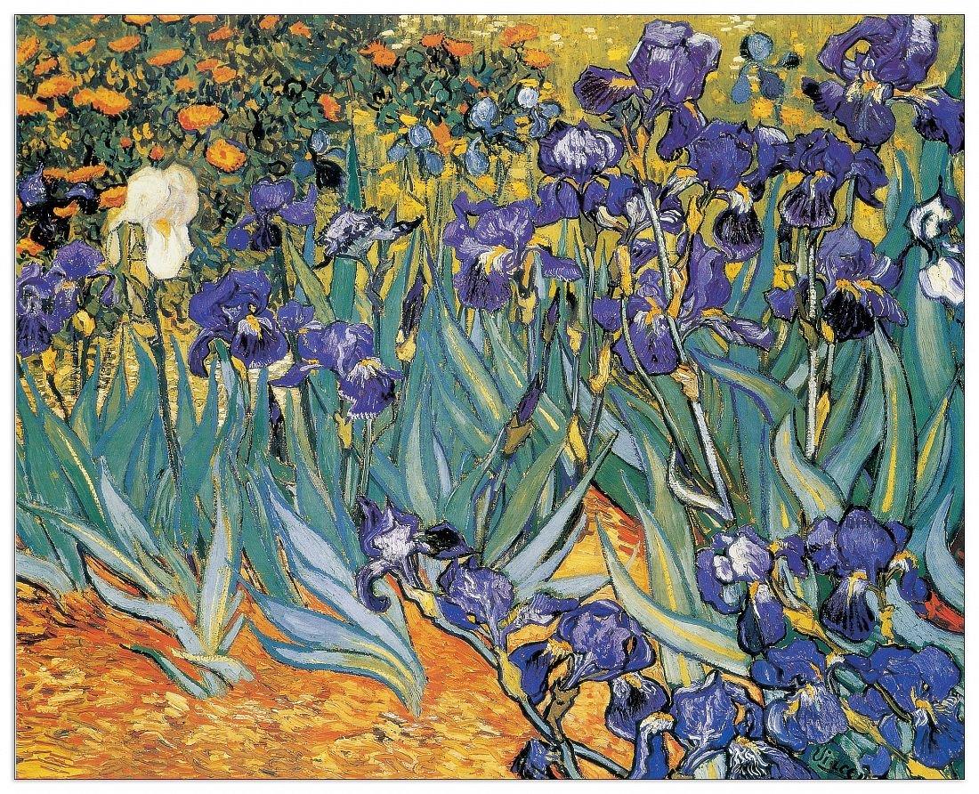 Artopweb Pannelli Decorativi Van Gogh Irises Quadro, Legno,, 100x1.8x81 cm Eclissi EC17946 stampe; quadri