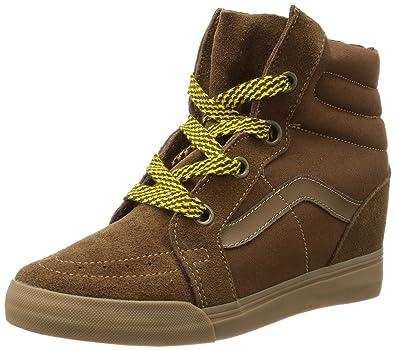 Vans SK8 Hi Wedge Shoes Brown Suede Fashion Sneakers Women Unisex (8.0 Men   9.5 33be699731