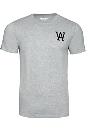 WOLDO Athletic I T-Shirt Herren I Rundhals-Ausschnitt I Baumwolle I Kurzarm  I Regular-Fit I T Shirt  Amazon.de  Bekleidung aa2db59e48