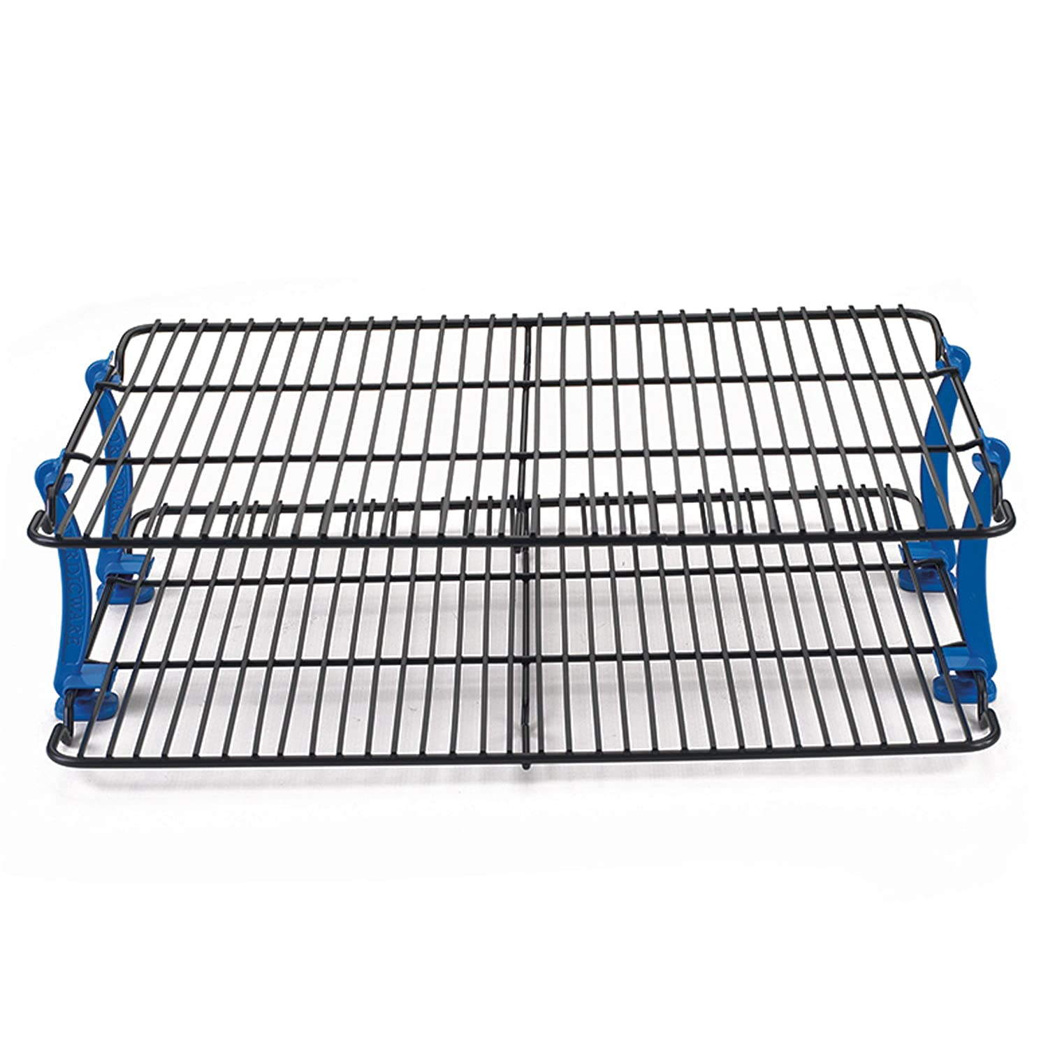 Com Nordic Ware Stackable Cooling Racks Two 11 By 16 Inch Cookie Rack Kitchen Dining
