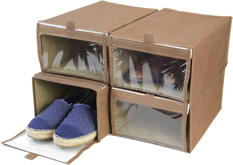 Paylak Juego de 4 – Caja de Zapatos XL Armario organización con ...