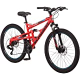 Schwinn Protocol 1.0 Mens and Womesn Mountain Bike, 26-Inch Wheels, 24-Speed Drivetrain, Lightweight Aluminum Frame…