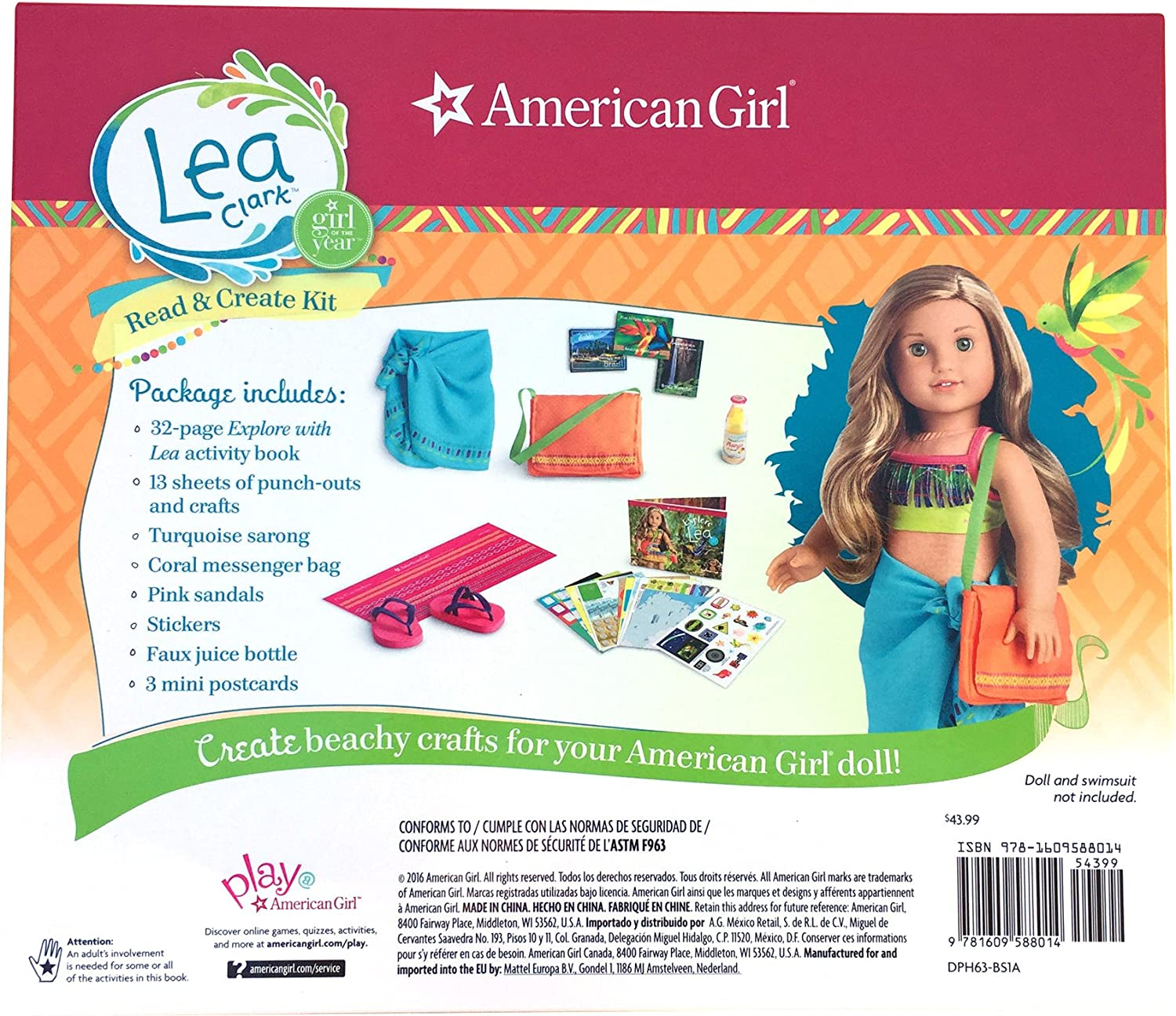 Accessories /& More Clothes NEW American Girl Lea Clark: Activity Book Crafts
