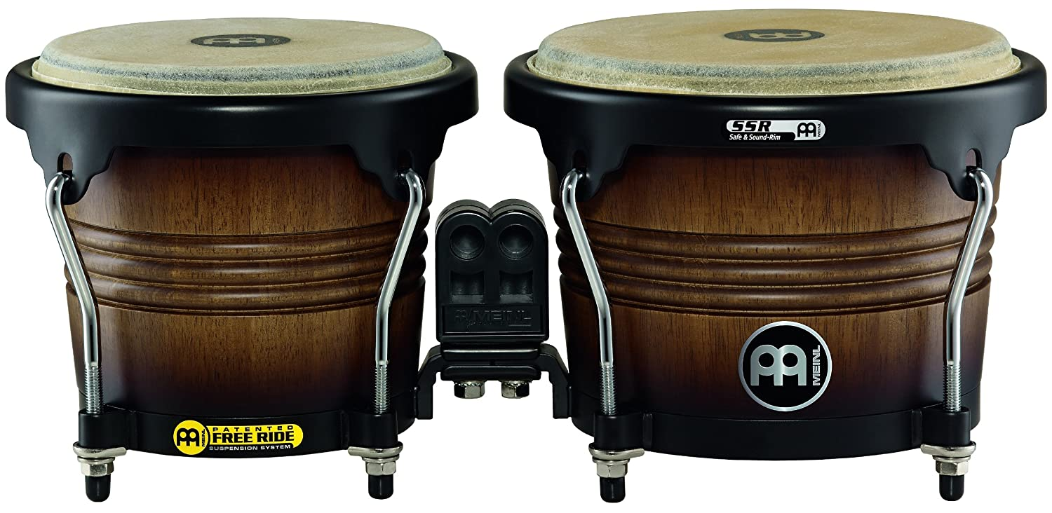 Meinl Percussion FWB190ATB-M Free Ride Series Wood Bongos, Antique Tobacco Burst Finish Meinl USA L.C.