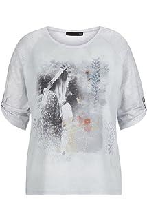 8fe795bf0ebd08 Thomas Rabe Damen T-Shirt mit Front-Print und Raglan-Ärmeln