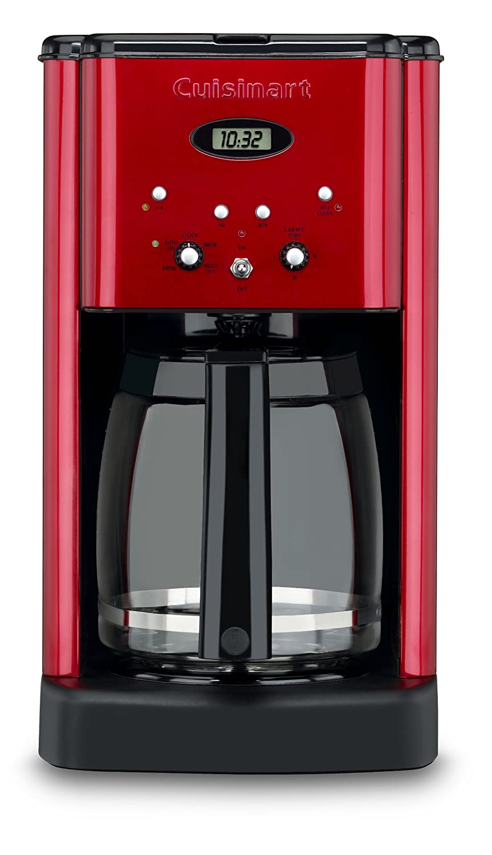 Cuisinart Brew Central Programmable Coffeemaker Auto Shut-Off 12 Cup Metallic Red
