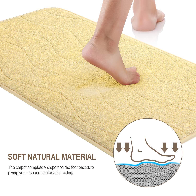 Bath Memory Foam Bath Pad Bathroom Water Absorbent Non-slip Mats ...