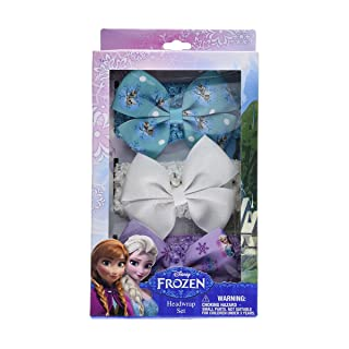 Disney Frozen Hair Box Set with 3 Grosgrain Headwraps and Bows