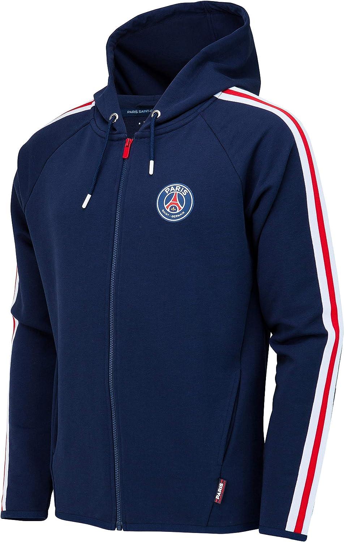 PARIS SAINT GERMAIN PSG Hooded zip sweat jacket Official Collection Men Size XL
