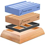 Sharp Pebble Whetstones Wood Carvers Sharpener-Dual Grit Sharpening Stones Grit 400 & 1000- Waterstone Sharpener for…