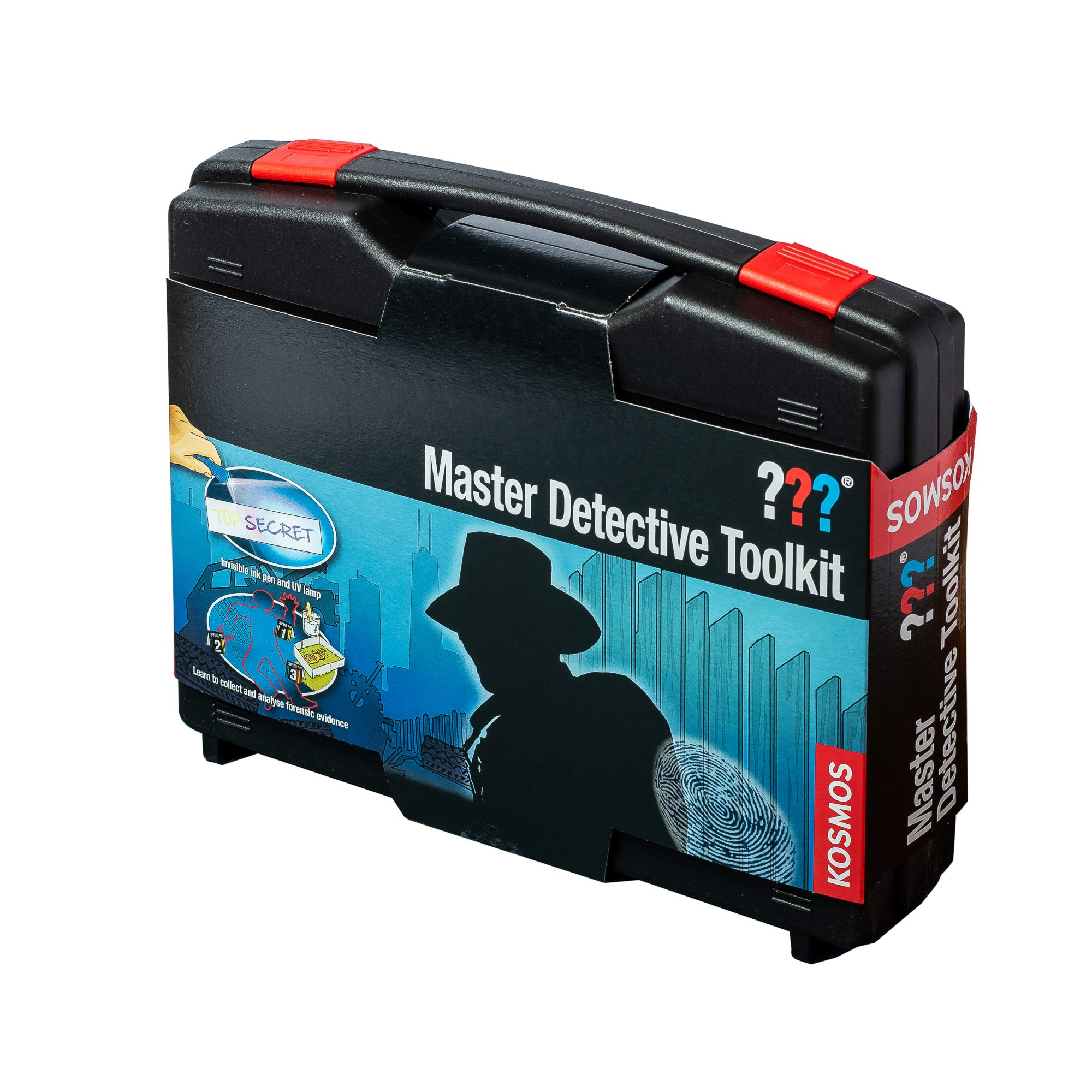 Thames & Kosmos Master Detective Toolkit | Forensic Science Experiment Kit | Fingerprints, Footprints, Tire Tracks | 32-Page, Full-Color Experiment Story Book | Parents' Choice Gold Award Winner by Thames & Kosmos