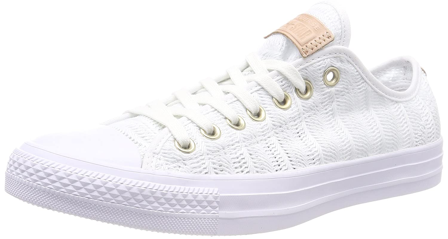 Converse Damen CTAS OX White/Tan/Mouse Sneaker  41 EU|Wei? (White/Tan/Mouse 102)
