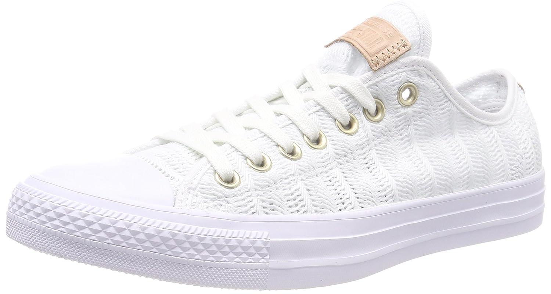 Converse CTAS Ox White/Tan/Mouse, Zapatillas para Mujer 41 EU|Blanco (White/Tan/Mouse 102)