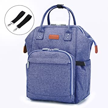 2041d4546 Amazon.com   Diaper Bag Nappy Bags for Mom Baby Care - Multi Function  Waterproof Diaper Backpack - Large Capacity Durable Stylish (Linen Purple)    Baby