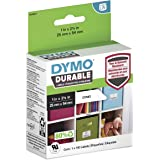 """DYMO LW Durable Labels for LabelWriter Label Printers, White Poly, 1"""" x 2-1/8"""", Roll of 160 (1976411)"""