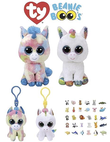 Animal TY Beanie Boos Babies Stuffed Unicorns With Clip Keychain   Puzzle  Eraser  4748cc6f7cd2