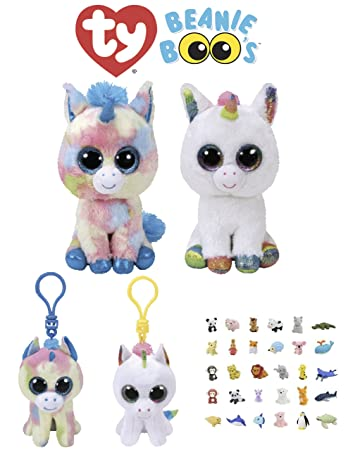 Animal TY Beanie Boos Babies Stuffed Unicorns With Clip Keychain   Puzzle  Eraser  863eba0fec4f