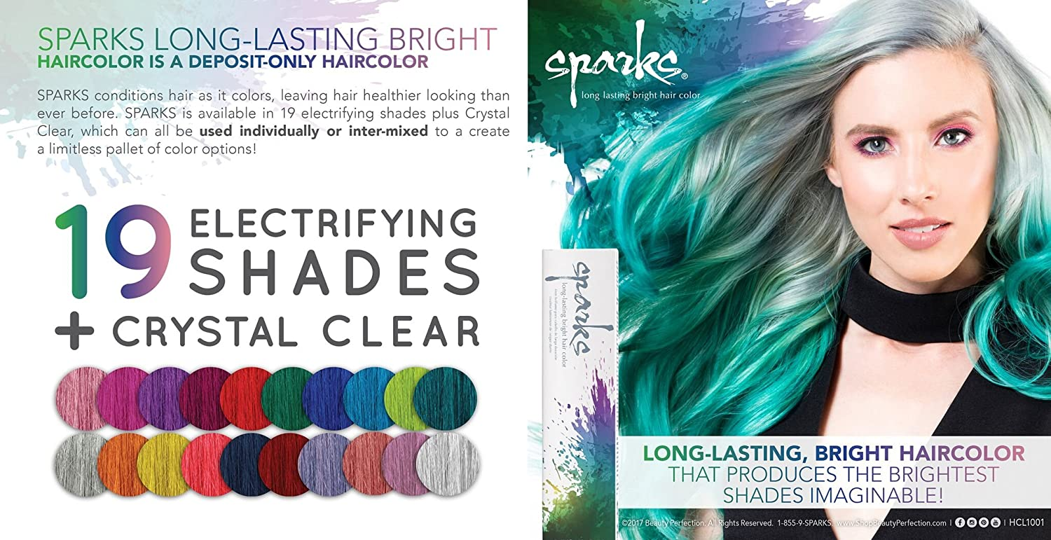 Sparks Long-Lasting Bright Hair Color - Crystal Clear, 88 ml: Amazon ...