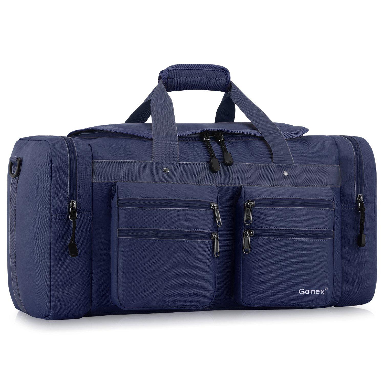 Gonex 45L Travel Duffel, Gym Sports Luggage Bag Water-resistant Many Pockets(Blue)