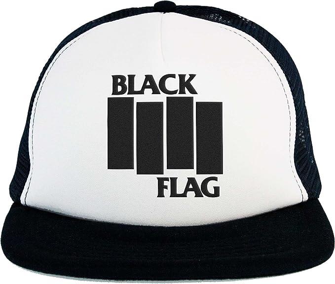 Sombrero Black Flag, Trucker Cap con el logotipo Música Hardcore ...