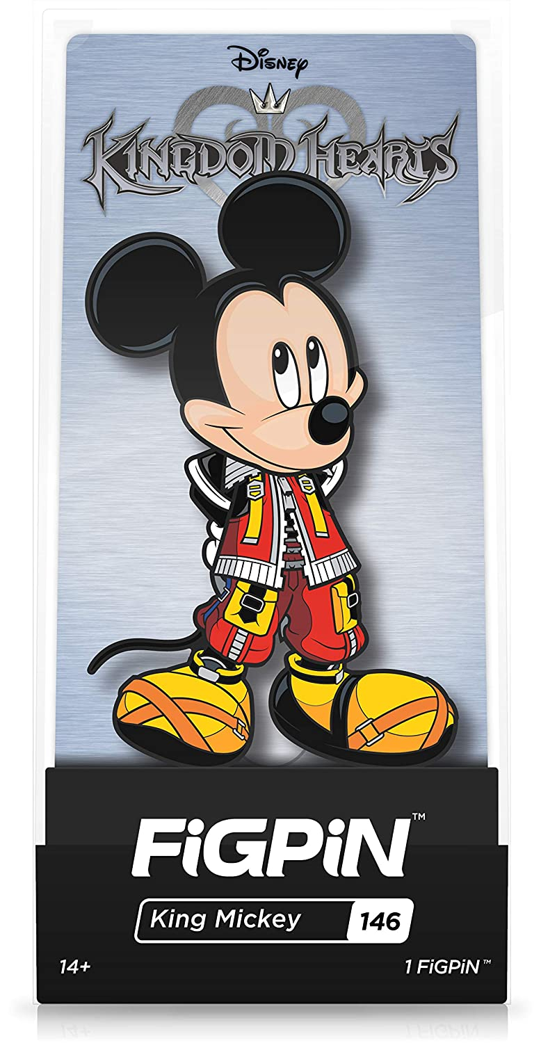 FiGPiN Disney Kingdom Hearts: King Mickey - Collectible Pin with Premium Display Case