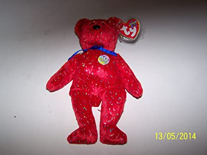 DECADE the Bear White Version TY Beanie Baby