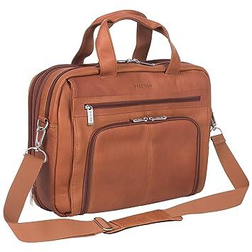 1bdceabb66e9 Amazon.com | Kenneth Cole Reaction Colombian Leather Dual Compartment  Expandable 15.6