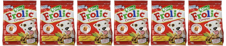 FROLIC - Mini - Croquettes pour chiens à la Volaille, aux Légumes et aux Céréales - Lot de 6 sacs de 1 Kg 270982