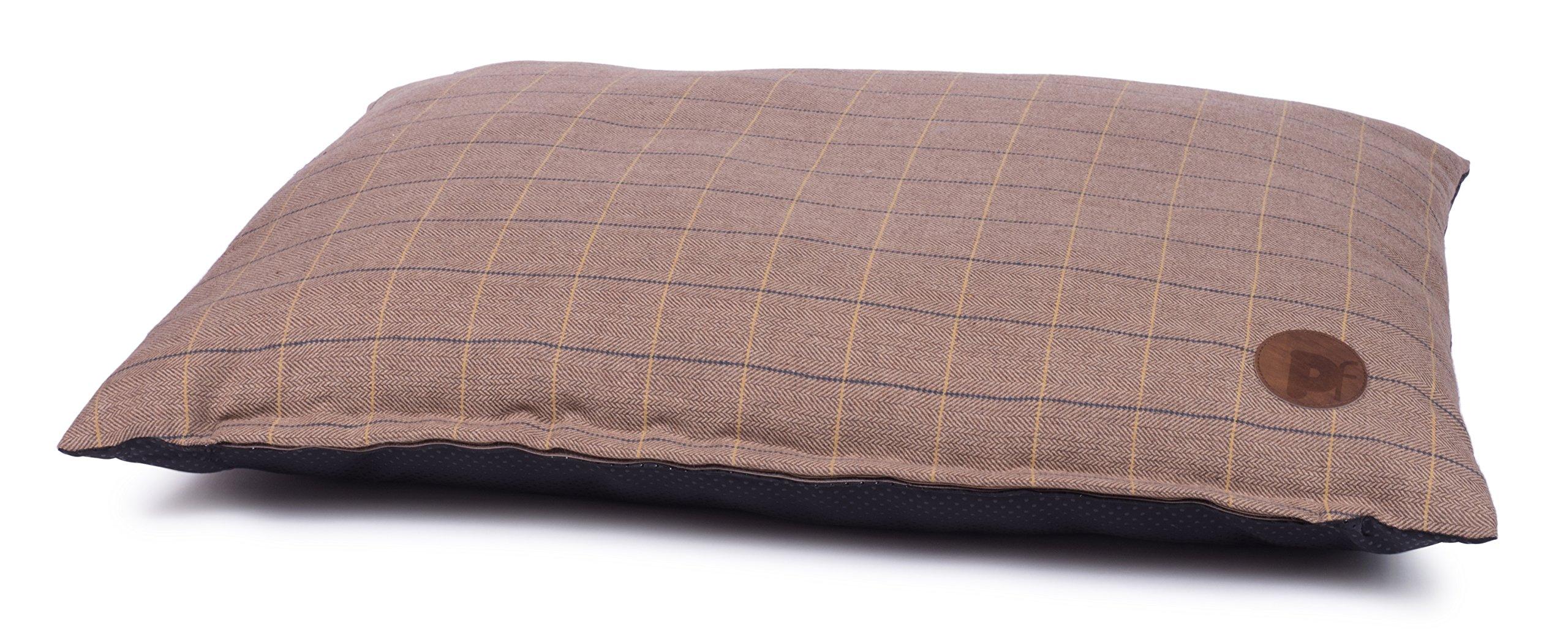 Petface Dog Bed, Tweed Mattress, Pet Bed Pillow, Tan, Large