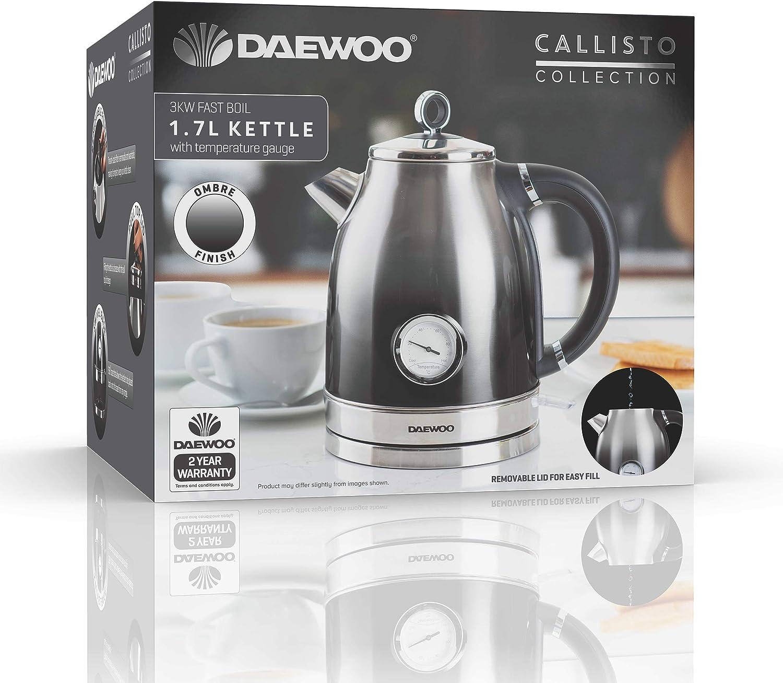 Daewoo Temperature Dial Kettle Black