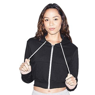 American Apparel Women Cropped Flex Fleece Zip Hoodie: Clothing