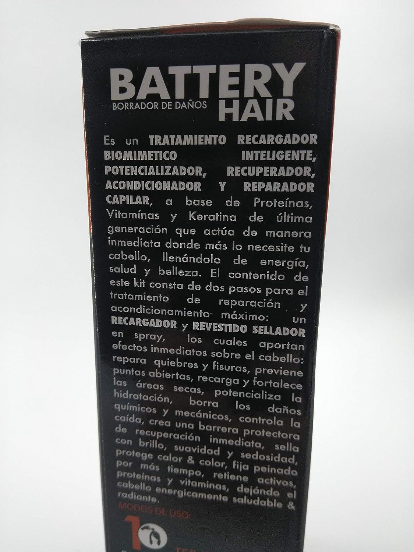 Amazon.com : Regenerador capilar Battery Hair 230g cada - Kit Biomimético Inteligente Tratamiento Para el Cabello Dañado, Termoterapia Para Cabello, ...