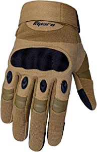 Riparo Tactical Touchscreen Gloves Military Shooting Hunting Rubber Outdoor Gloves (X-Large, Sand)