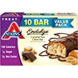 Atkins Endulge Treat, Caramel Nut Chew Bar, 1.2oz 10 Bars
