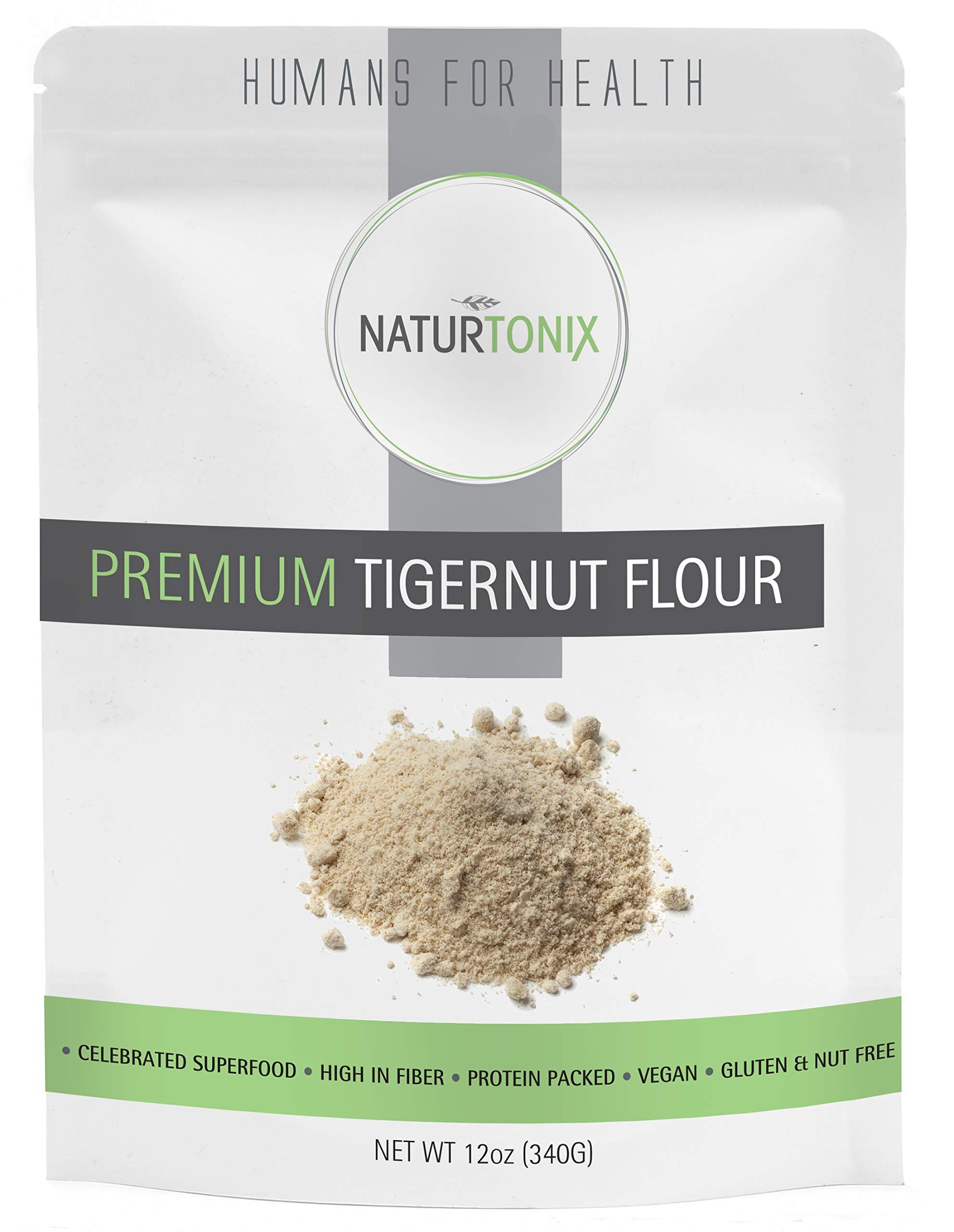 Premium Tiger Nut Flour, 12 oz Resealable Fresh Pouch, Gluten Free, Non GMO, Nut Free, Paleo and Keto Diet Friendly, Certified Kosher