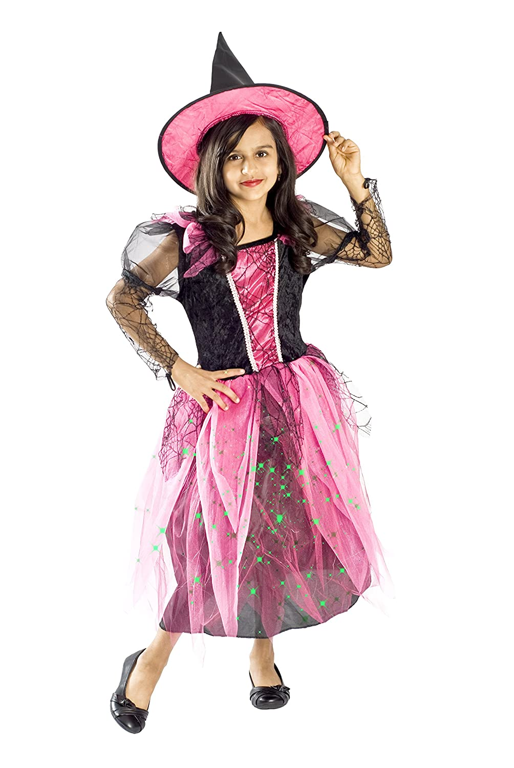 Amazon.com Witch Costume for Girls Black Light up Pink Size Small Medium Large 4-6 6-8 8-10L (8-10) Toys u0026 Games  sc 1 st  Amazon.com & Amazon.com: Witch Costume for Girls Black Light up Pink Size Small ...