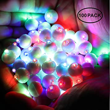 Neo Loons 100pcs Lot 100 X Multicolor Round Led Flash Ball Lamp Balloon Light Long Standby Time For Paper Lantern Balloon Light Party Wedding